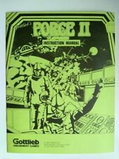 "Original Gottlieb ""Force II"" Pinball Machine Instruction Manual"