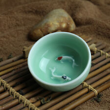 80ml porcelain tea cup fish relief green cup of tea Chinese kungfu tea cups new