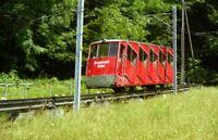 PHOTO  SWITZERLAND BRAUNWALD 1995 TRAM BRAUNWALD BAHN 1 V2