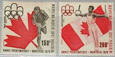 NIGER 1975 486-87 C257-58 Pre Olympic Year Sports Shot Put Gymnast on Rings MNH