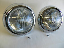 Pair of complete headlights with chrome trim for MERCEDES 190sl w121 Bosch lens