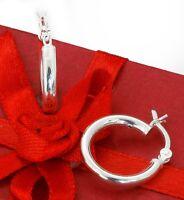925 Sterling Silver 18mm Hoop Earrings Reduced Price!!!