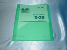 Teac X-3R Reel To Reel Service Manual Free Same Day Shipping Brand New