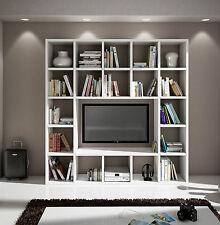 Mobile Parete Attrezzata Libreria Porta Tv plasma Pensile Salotto Soggiorno