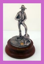 """Chilmark Fine Pewter Figurine By Polland 1991 """"RODEO STAR """" #669/2500 SIGNED"""