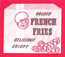 1950 Golden French Fries set of 6 Bags Old Store Stock