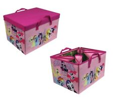 MY LITTLE PONY 2 IN 1 TOY STORAGE BOX & EQUESTRIA MAP PLAY MAT CHILDRENS GIRLS