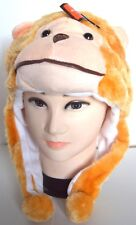NEW Adults Kids Monkey with tail faux fur animal hat winter christmas One size
