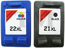 Remanufactured 21XL Black & 22XL Colour Ink Cartridge Combo fit HP Deskjet F380