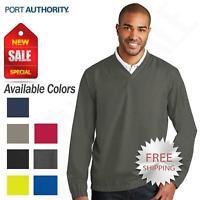 Port Authority Golf Wind Shirt Zephyr V-Neck Pullover Windbreaker Jacket J342