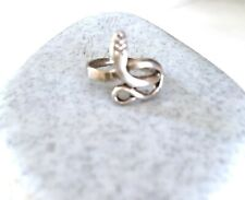 Snake Sterling Silver Toe Ring Adjustable