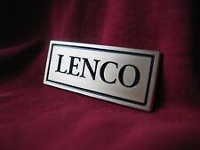 Lenco L75 / L70 turntable brass logo badge