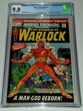 MARVEL PREMIERE #1 CGC 9.0 OFF WHITE TO WHITE PAGES 1ST HIM AS WARLOCK 1972 (SA)