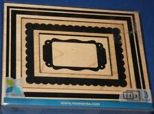 """Momenta Wood Mounted Rubber Stamps """"Frames"""""""