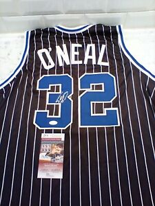 Shaq Shaquille O'Neal Signed Black Jersey Auto Beckett JSA Witnessed COA