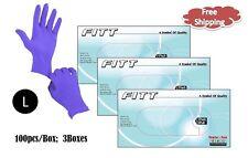 FITT® Nitrile Disposable Powder Free Gloves - LARGE 300pcs  Non-Latex