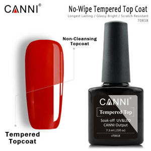 CANNI Nail Art 7.3ml Long-Lasting Enhance Tempered Without Sticky Layer Top Coat