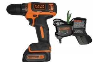 Black & Decker 12V Max Lithium Cordless Drill with Battery & Charger