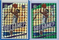 De'Aaron Fox 2019-20 Mosaic Silver + GREEN Mosaic Prizm Got Game? Card #24