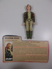GI JOE ARAH 1983 COVER GIRL  FIGURE COMPLETE FILE CARD VINTAGE WOLVERINE DRIVER