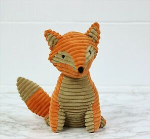 Textured Fabric Orange Fox Animal Shape Weighted Home Woodland Door Stop Stopper