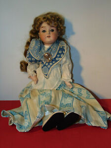 """ANTIQUE FASHION 1800'S DOLL STANDS 20"""" TALL"""