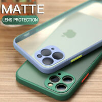 For iPhone 11 12 Pro Max XR XS 8 7 SE 2 Square Camera Protection Hard Case Cover