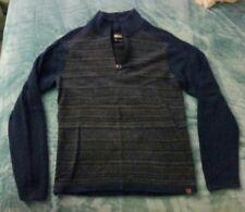 Men's Royal Robbins Quarter Zip Sweater, Wool/Nylon, Size M, Blue/Gray, NWOT