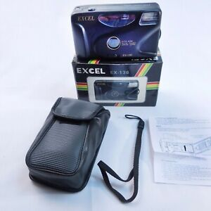 Excel Focus Free EX-136 35 mm Point & Shoot Film Camera  & Case In Original Box