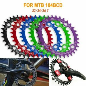32T 34T 36T Narrow Wide Oval 104BCD Chainring Crankset Chainwheel Tooth Plate