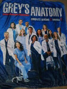 "Grey's Anatomy Blanket Super Soft Fleece Throw Blanket 50"" X 40"" & FREE SHIPPING"