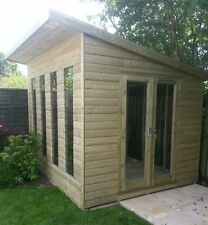 10 x 8 PRESSURE TREATED Lined Home Tanalised Studio/shed Garden room