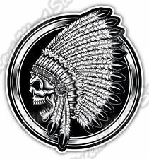 "Indian Chief Head Skull Native American Haida Bumper Vinyl Sticker Decal 4.6"""