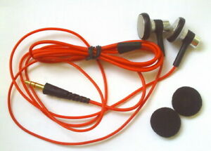 New red cable earphone with one pair of Sponge cover
