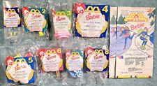 1994 McDonald's Happy Meal Toys -  BARBIE  - Mint Set (8) + 2 Bags  cake toppers