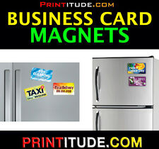 """250 Personalized Magnetic Business Cards FULL COLOR Business Card Magnet 2""""x3.5"""""""