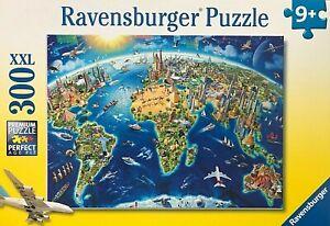 RAVENSBURGER World Landmarks Map Jigsaw Puzzle 300Pcs XXL ~ MADE IN GERMANY