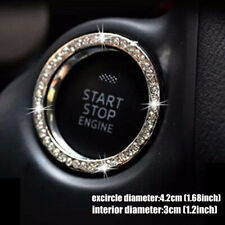 Car Silver Decorative Accessories Button Start Switch Diamond Ring Universal