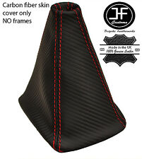 RED STITCH CARBON FIBER VINYL SHIFT BOOT FITS MITSUBISHI LANCER EVO X 07-14