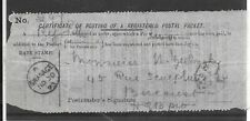 GB POSTAL PACKET DOCUMENT 1893