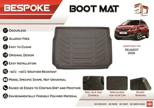 For PEUGEOT 2008 2013+ Tailored Rubber Boot Liner Fitted Mat Dog Tray