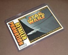 Star Wars Death Star Millenium Falcon Retailer Promo Trading Card Lottery Ticket