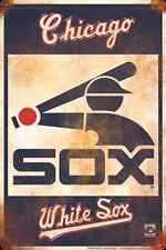 "CHICAGO WHITE SOX METAL SIGN RETRO VINTAGE PARKING SIGN 8"" x 12"" MAN CAVE"