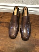 BALLY Mens Dress Shoes Soft Brown  Swiss Leather Casual Slip On Loafer Size 12 C