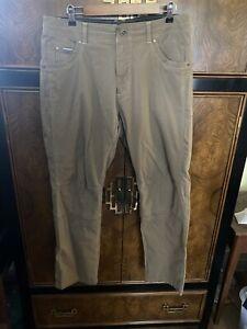Exc Men's Kuhl Radikl Pants Brown/Beige Size 35x30