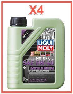 4 Qt. Molygen New Generation Motor Oil SAE 5W-40 LIQUI MOLY Fully Synthetic