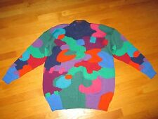 EUC Ladies Vintage Robyn Malcolm Colorful Wool Sweater Large Made in Australia