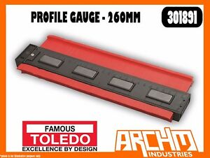 TOLEDO 301891 - PROFILE GAUGE LARGE 260MM - HARDWARE INDUSTRIAL DIY COPY PLASTIC