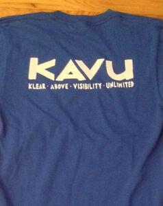 NWT KAVU Heritage Blue T-Shirt Adult Mens Womens Size XS