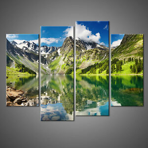LAKE IN THE MOUNTAINS CANVAS PRINT PICTURE WALL ART HOME DECOR FREE DELIVERY